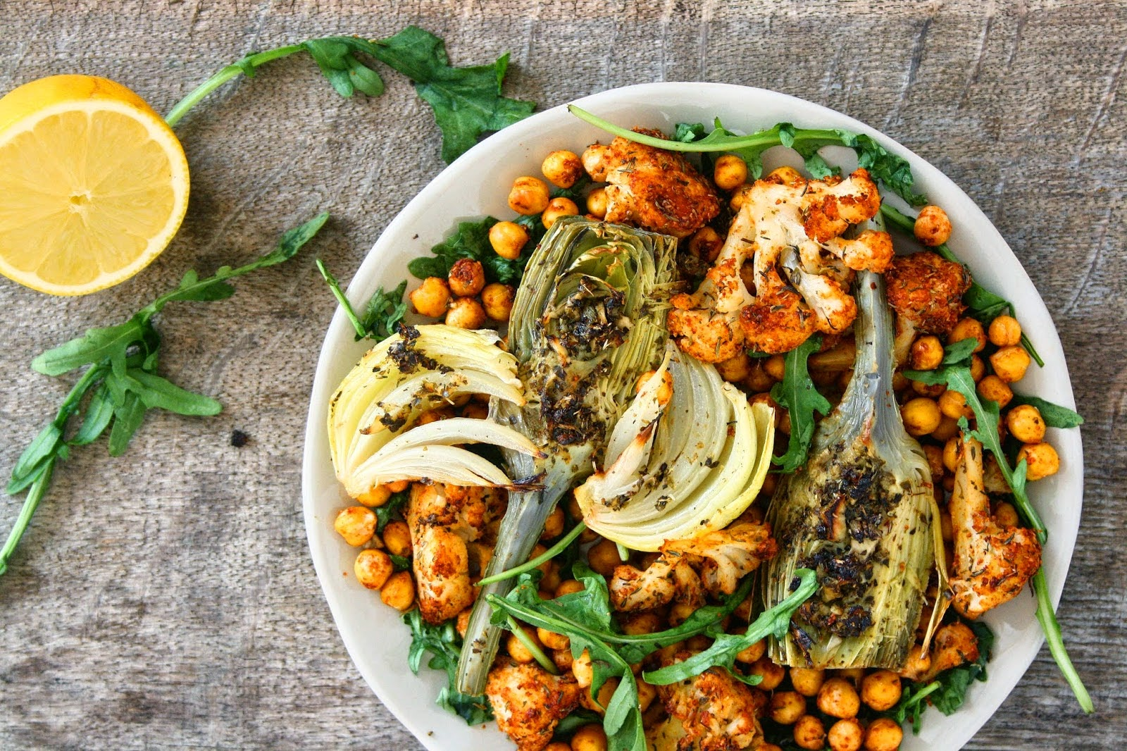 OVEN ROASTED VEGGIES & CHICKPEAS