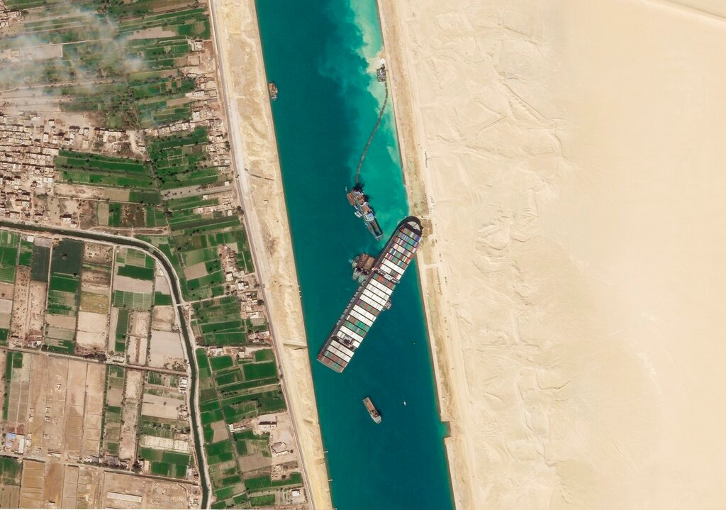 Cargo ship stuck in Suez Canal for six days was evacuated