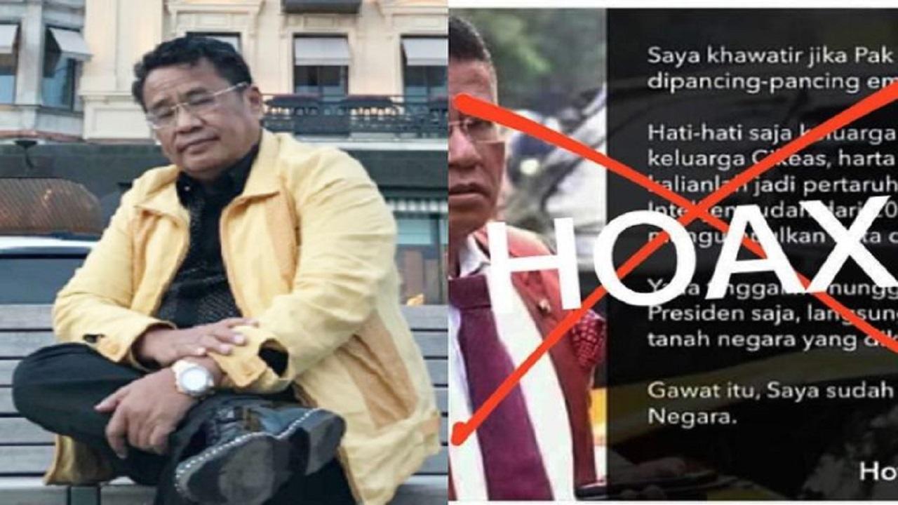 Hotman Paris Difitnah Jadi Penyebab Berita Hoaks yang Menyeret Presiden Jokowi, Keluarga Cendana dan Cikeas, sang Pengacara Kondang Naik Pitam: Segera Hentikan!