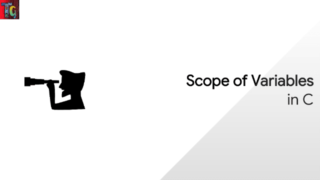 Scope of Variables in C