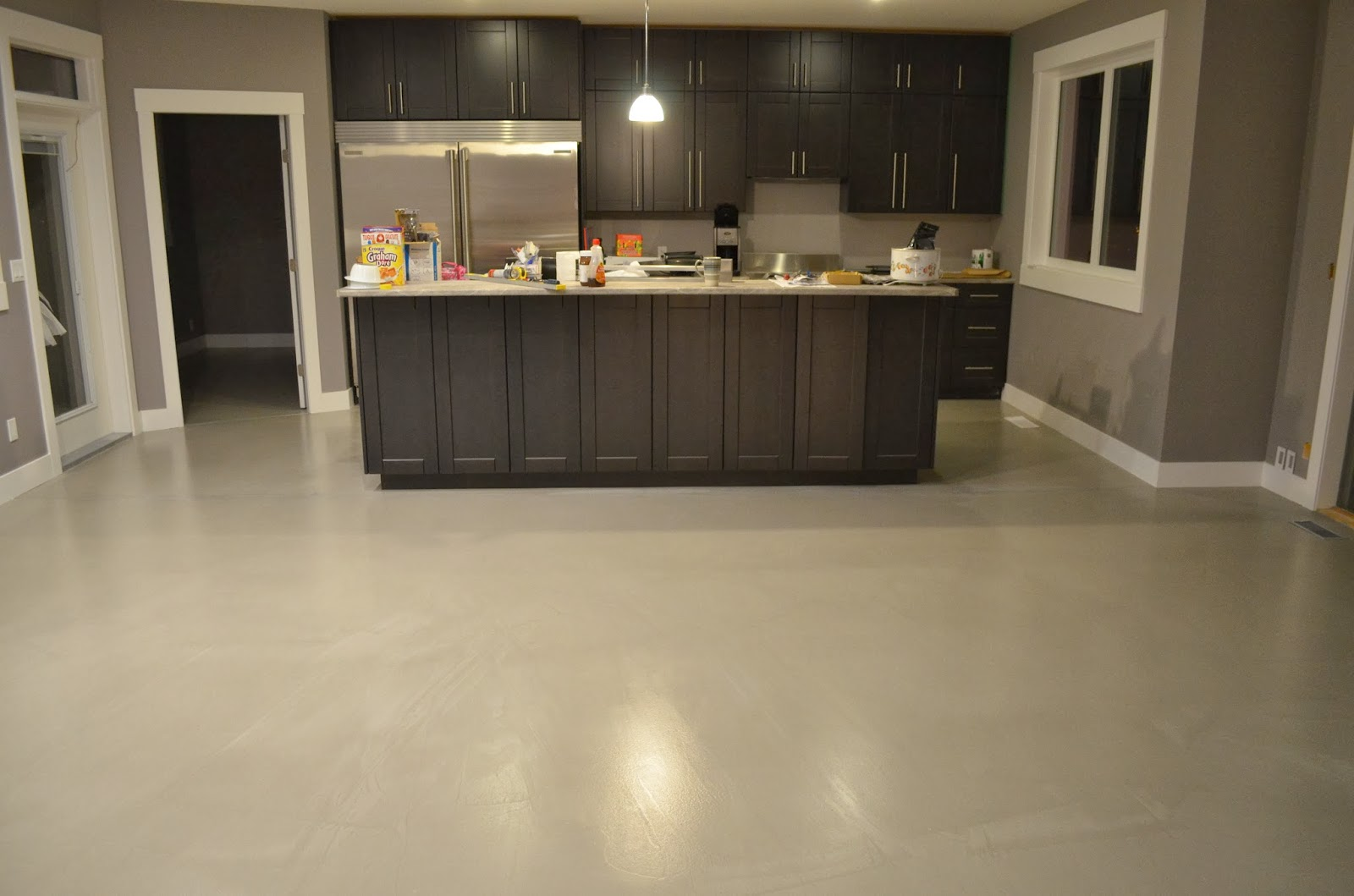 Concrete Floor Kitchen Mode Concrete Contemporary Concrete Flooring Overlay Possible On