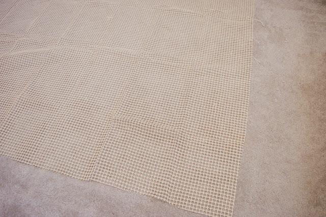 A white non-slip mat