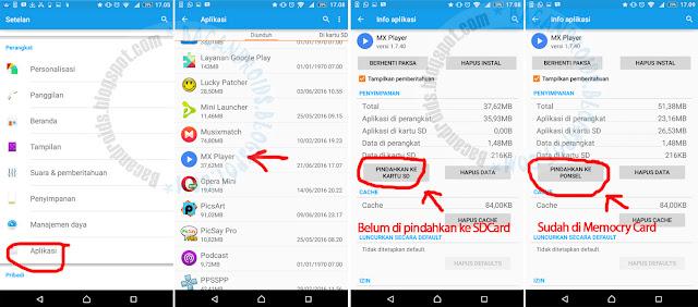Cara Ampuh Memindahkan Aplikasi dan Game Android ke Memory External SDcard mudah