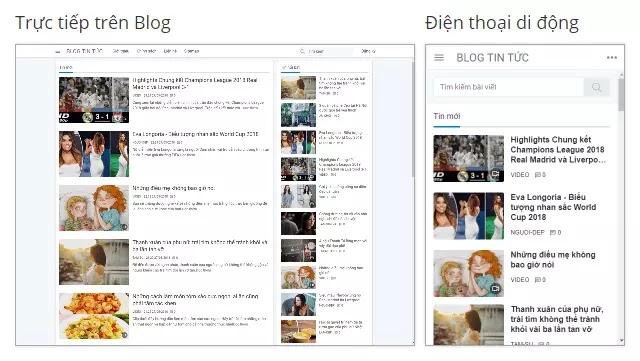 Theme blogspot blog tin tức đẹp chuẩn seo tải nhanh