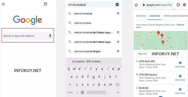 Cara Mengetahui ATM BRI Terdekat Menggunakan Google Search