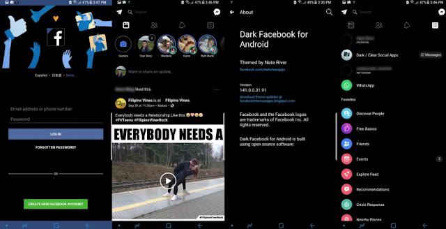 Cara Mengaktifkan Mode Gelap Tampilan Facebook Android