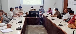 गणेशोत्सव, दुर्गा पूजा और मिलादुन्नबी पर्वो के मद्देनजर शांति समिति की बैठक का आयोजन