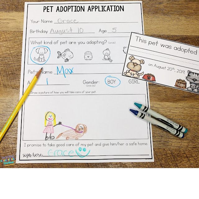 Learn how to set up a pretend adoption center for your students to adopt a reading buddy stuffed animal at kindergarten open house or orientation.  This is a fun way to motivate your kids to want to read!  Your students will love choosing a stuffed animal to read to and take care of.  Setting up this activity can be simple and the impact can be powerful.  Learn how to engage kids and family in reading today!