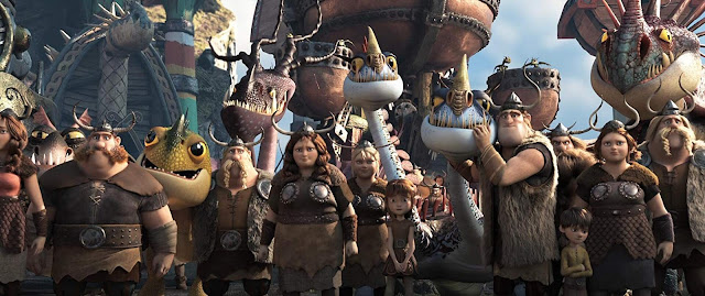 Viking Family on How To Train your Dragon The Hidden World 2019 Bluray BRrip Full HD