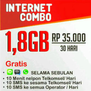 Armaila Ponsel - CUG Data Telkomsel Paket Data Internet 1.8GB 35Ribu