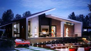 Bentuk Atap Rumah model  Sandar