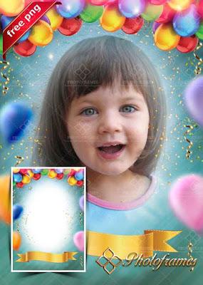 Bonito marco para fotos de cumpleaños