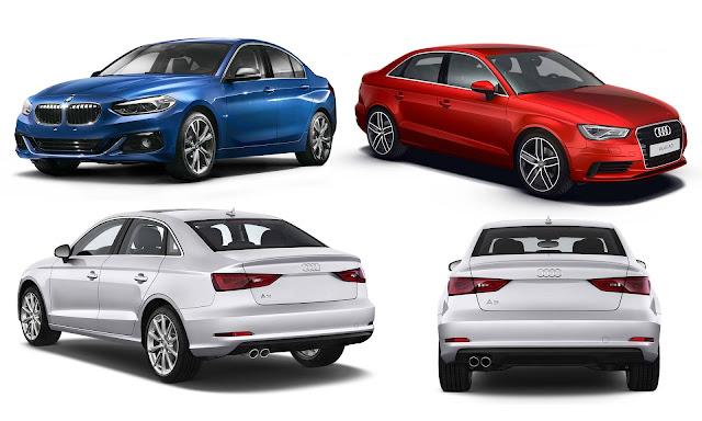 BMW Série 1 Sedan x Audi A3 Sedan
