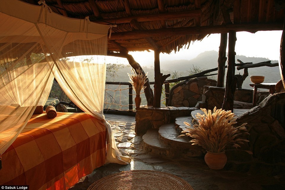 Sabuk Lodge, Kenya - 15 Incredible Hotel Rooms Where You Can Sleep Under The Stars.