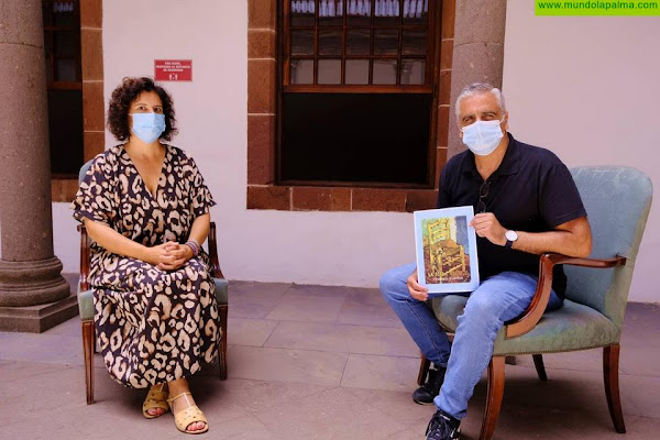El proyecto 'La Silla Viajera' contribuye a dar conocer el talento de los artistas de La Palma