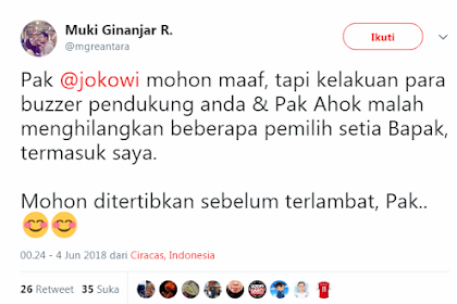 Kelakuan Buzzer Jokowi Bikin Pemilih Setia Pada Kabur, Sampe @Kurawa Nulis Cuwitan Begini...