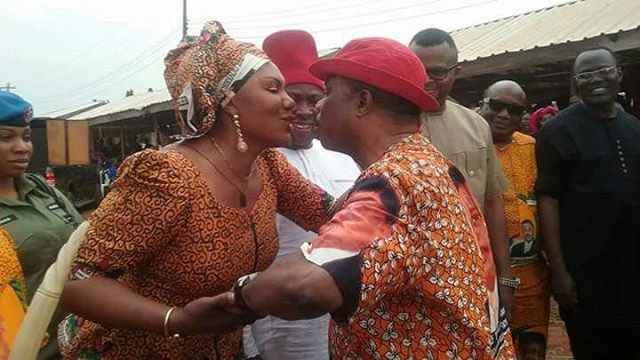 Caption this romantic photo of Obiano and wife