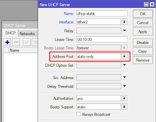Membuat DHCP Server Mikrotik