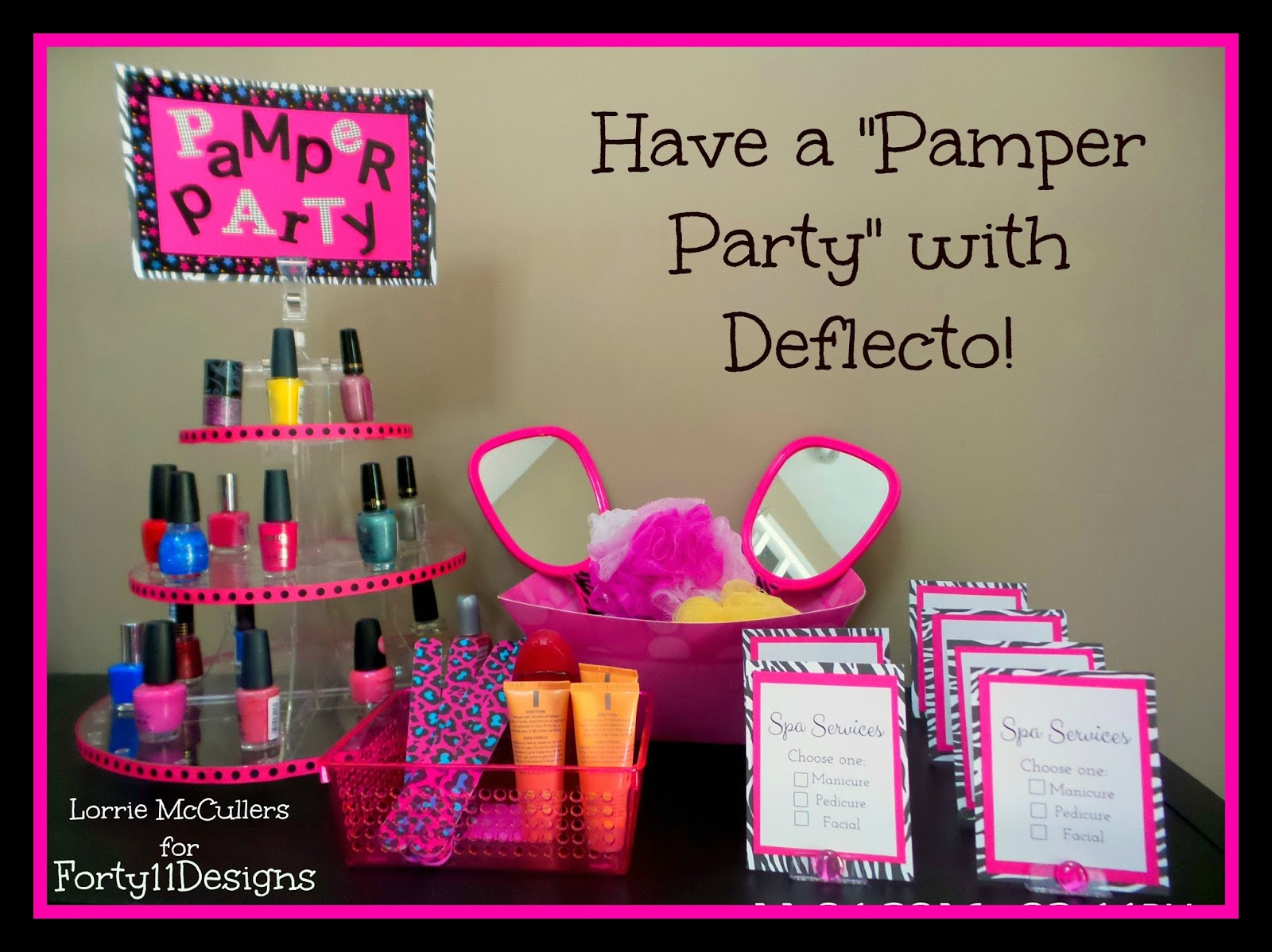 forty11 designs diy spa party