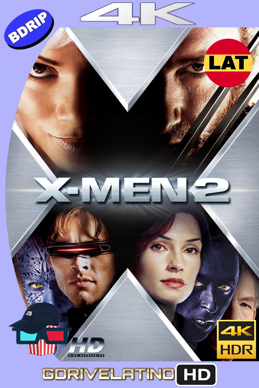 X-Men 2 (2003) BDRip 4K HDR Latino-Ingles MKV