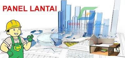 Menentukan Ukuran Pondasi Telapak dan strauss dengan plat lantai dak Panel Lantai Citicon