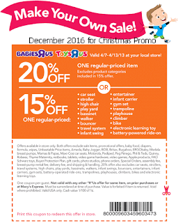 free Toys R Us coupons december 2016