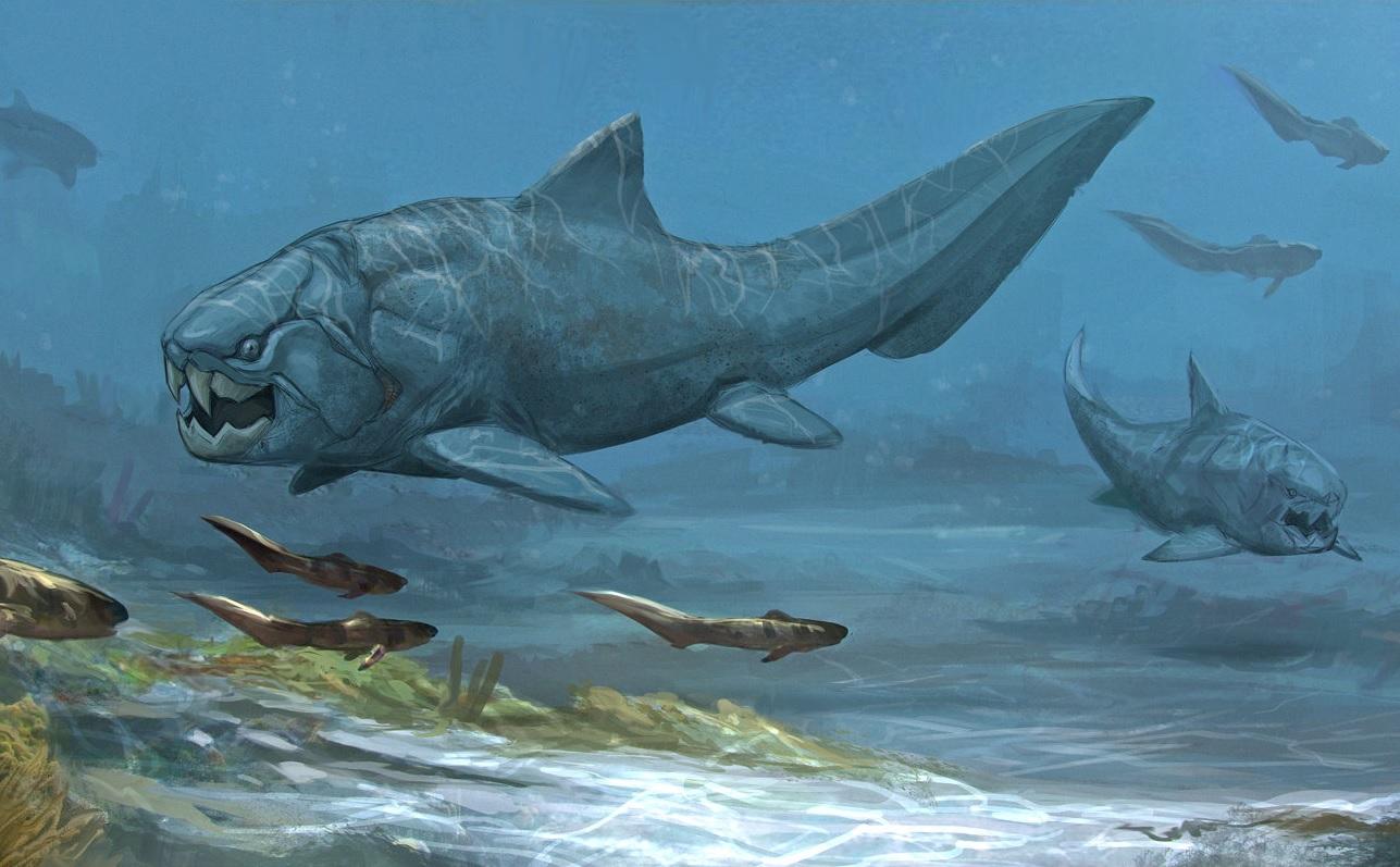 Pez prehistórico Dunkleosteus