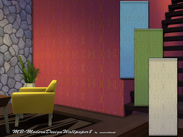 Стены с абстрактным рисунком для The Sims 4 со ссылками на скачивание
