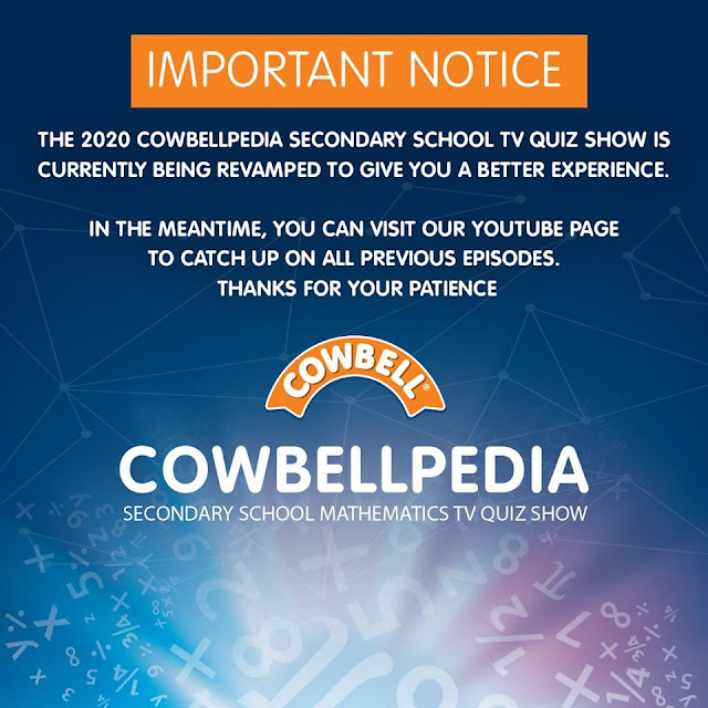 Cowbellpedia 2020 Mathematics Competition Suspended Indefinitely