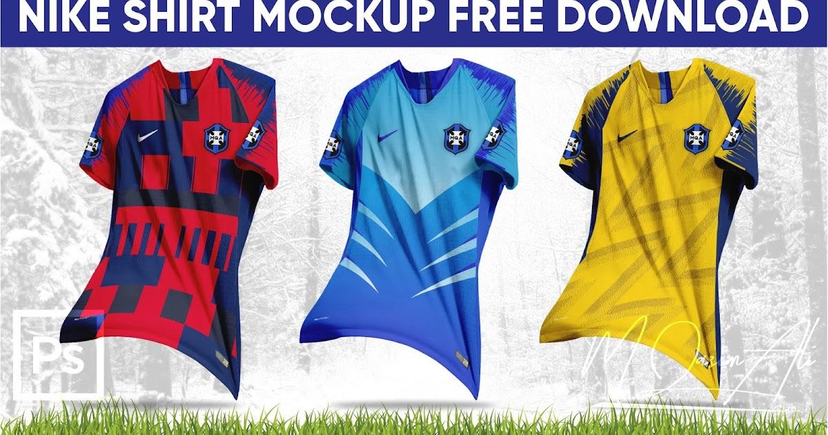 Download Photoshop CC 2020 Tutorial_Nike Football Shirt Mockup PSD ...