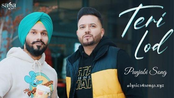 TERI LOD LYRICS - Kamal Kahlon | Punjabi Song | Lyrics4songs.xyz