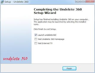 Undelete360セットアップ完了