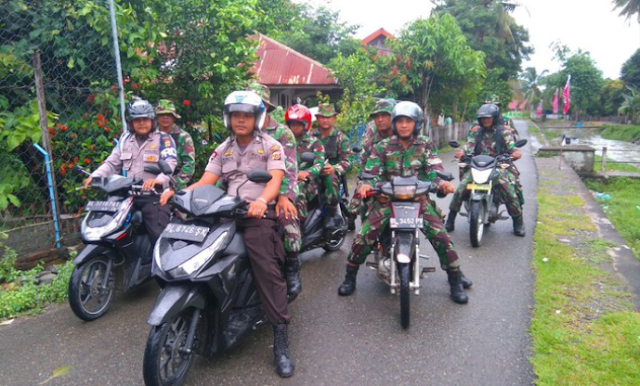 MenCegah Pengibaran Bintang Bulan, TNI/Polri Patroli Bersama Jelang Milad GAM