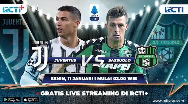 Prediksi Juventus Vs Sassuolo 11 Januari 2021