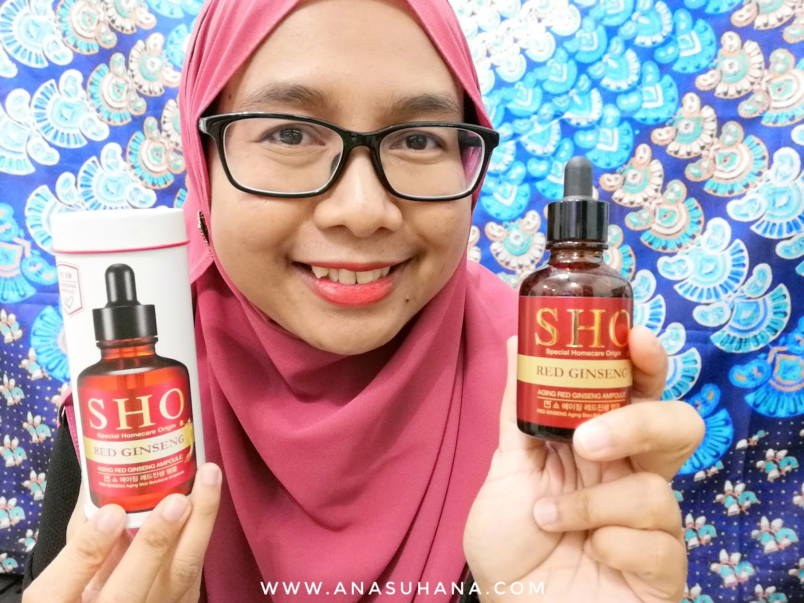 SHO Aging Red Ginseng Ampoule & Ampoule Mask