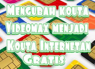Inilah cara untuk merubah Kouta Videomax Menjadi Kouta Internetan Gratis di Indonesia