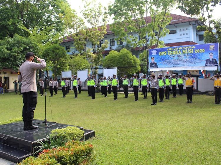 AKBP Donni Eka Syaputra pimpin Apel Gelar Pasukan OPS Zebra Musi 2020