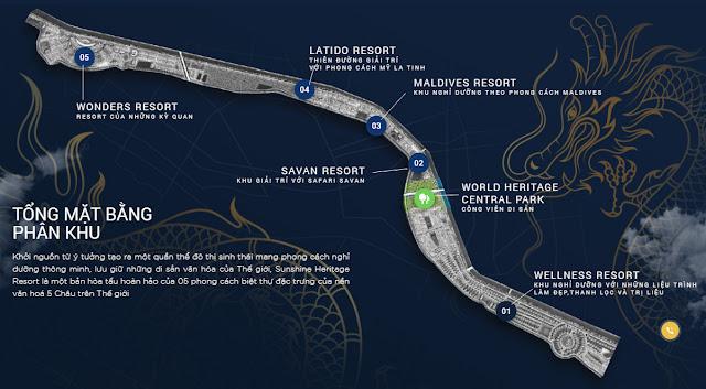 Mở bán biệt thự dự án Sunshine Heritage Resort Xuân Phú Phúc Thọ Hà Nội tại sông Đáy Tam Hiệp, Cẩm Đình giá