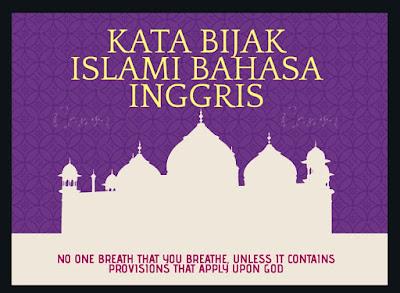 kata bijak islami bahasa inggris dan artinya di bulan oktober