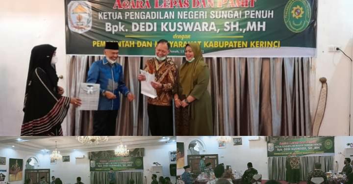 Pemkab Kerinci Gelar Acara Lepas Pamit Ketua PN Sungai Penuh Dedi Kuswara