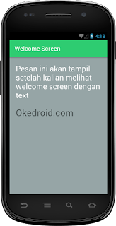 Hasil Welcome Sceen Android