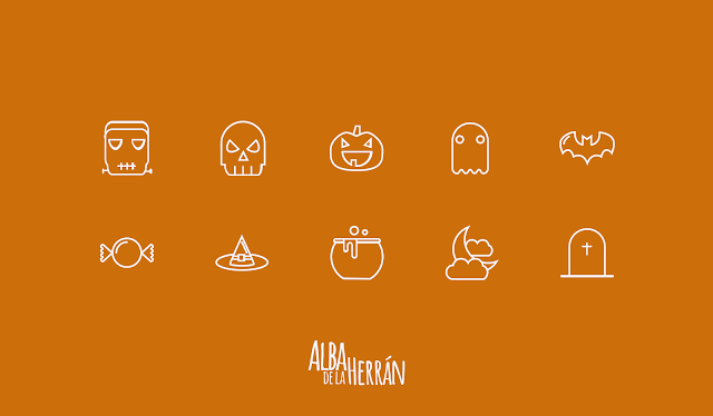 library icons halloween