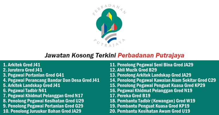 Jawatan Kosong 2019 Di Perbadanan Putrajaya Kelayakan Spm Diploma Ijazah Ejawatankini Com
