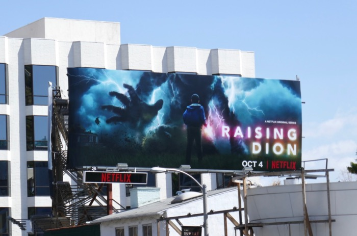Raising Dion series premiere billboard