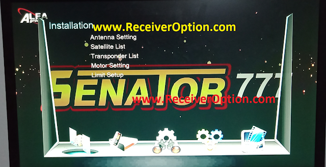 SENATOR 777 1506T NEW SOFTWARE WITH KOOORA & DIRECT BISS KEY ADD OPTION