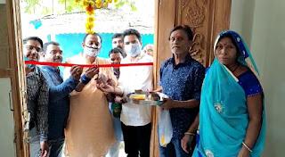 प्रधान मंत्री आवास योजना के तहत हितग्राहियों को आवास की राशि वितरण एवं नव निर्माण आवास का भूमि पूजन किया