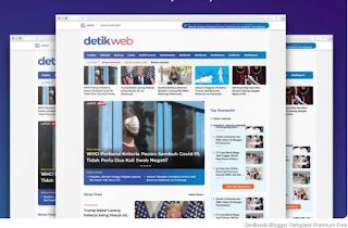 Detikweb Blogger Template Premium