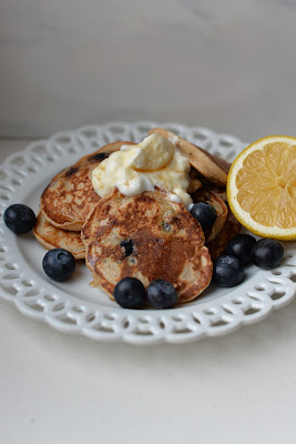Lemony Blueberry Pancakes