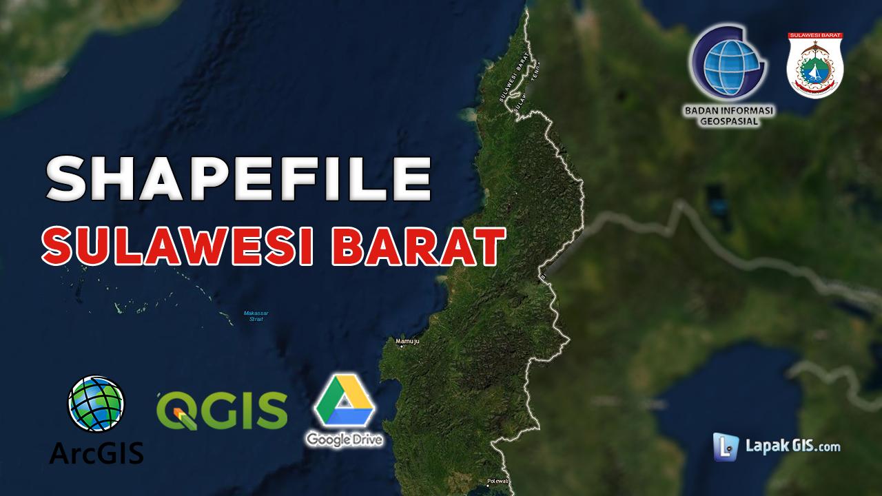 Shapefile Provinsi Sulawesi Barat Terbaru