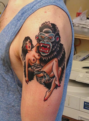 Tatuaje old school de King Kong